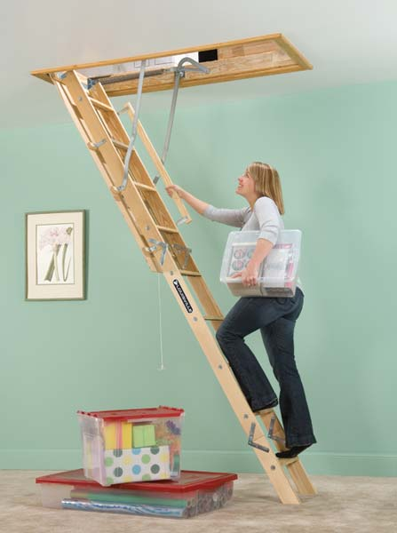 Louisville Ladder L224p 250 Pound Duty Rating Wooden Attic