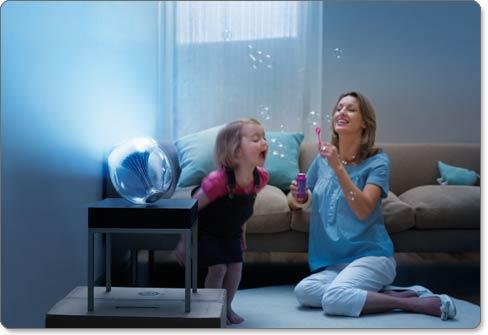 philips 69143 60 48 livingcolors generation 2 translucent changing led lamp with remote led. Black Bedroom Furniture Sets. Home Design Ideas