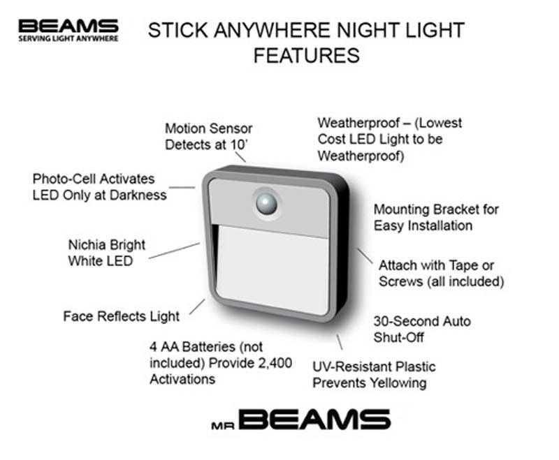 Mr Beams Mb 722 Battery Powered Motion Sensing Led Stick