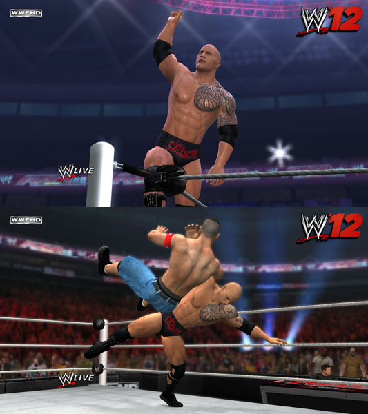 WWE'12 Pre-Order Bonuses revealed! Miz Attires & The Rock - With Pictures and Videos