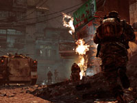 Ground units in an urban Vietnem War setting in Call of Duty: Black Ops