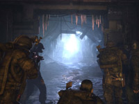 Combat in the tunnels of the Moscow underground in Metro 2033