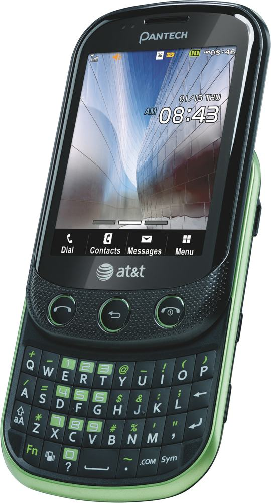 pantech pursuit ii phone green at t cell phones accessories. Black Bedroom Furniture Sets. Home Design Ideas