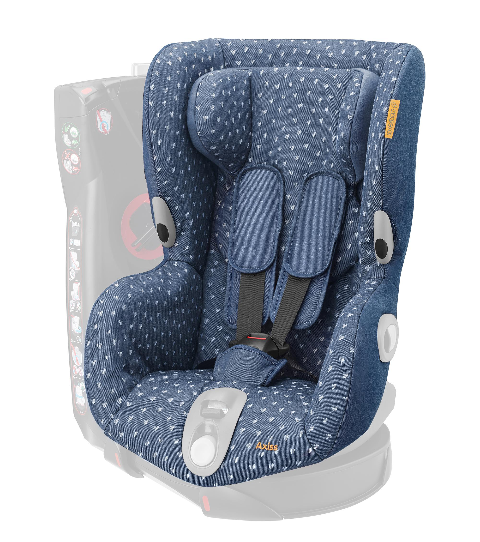 maxi cosi axiss seat cover denim hearts baby. Black Bedroom Furniture Sets. Home Design Ideas