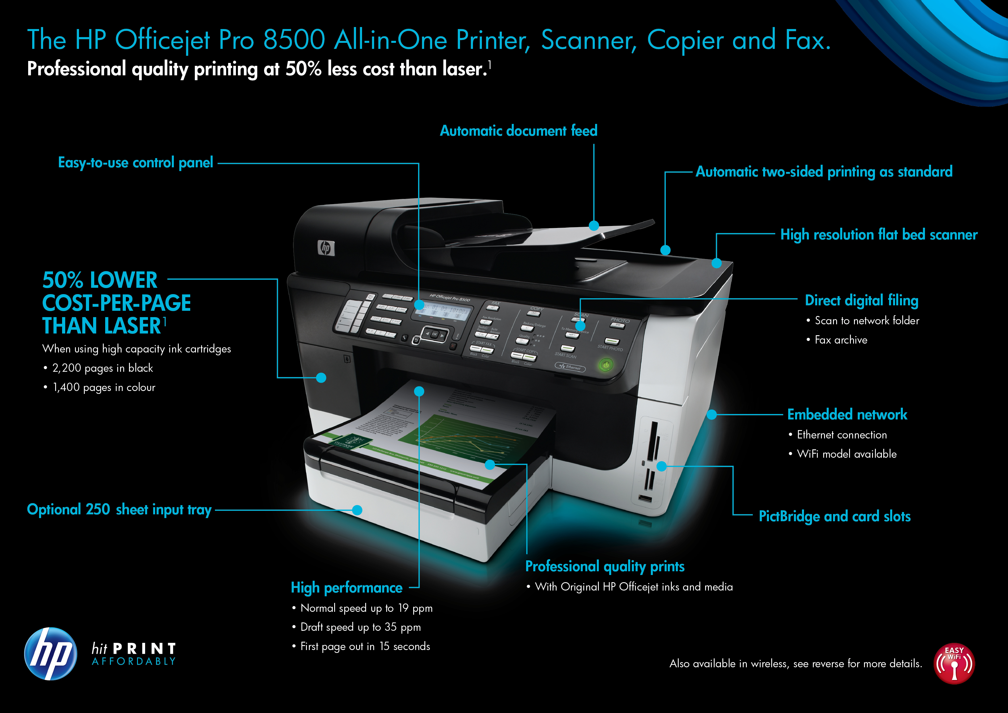 Hp Officejet Pro 8500 Wireless All In One Multifunction