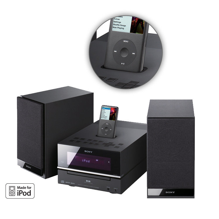 sony hcd bx77dbi mini hi fi with dab cd ipod dock ebay. Black Bedroom Furniture Sets. Home Design Ideas