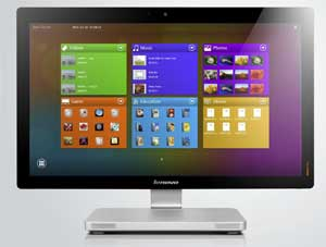 The A720 comes with Lenovo IdeaTouch - a range of touch-optimised applications pre-installed.
