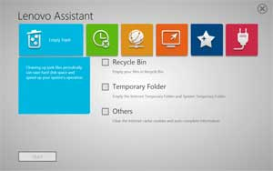 The Lenovo Assistant is an easy-to-use interface that's designed to keep your PC clean, organised, and running efficiently