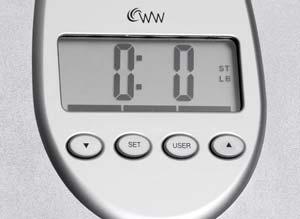 Weight watcher scale manual digital body mass black watchers model.