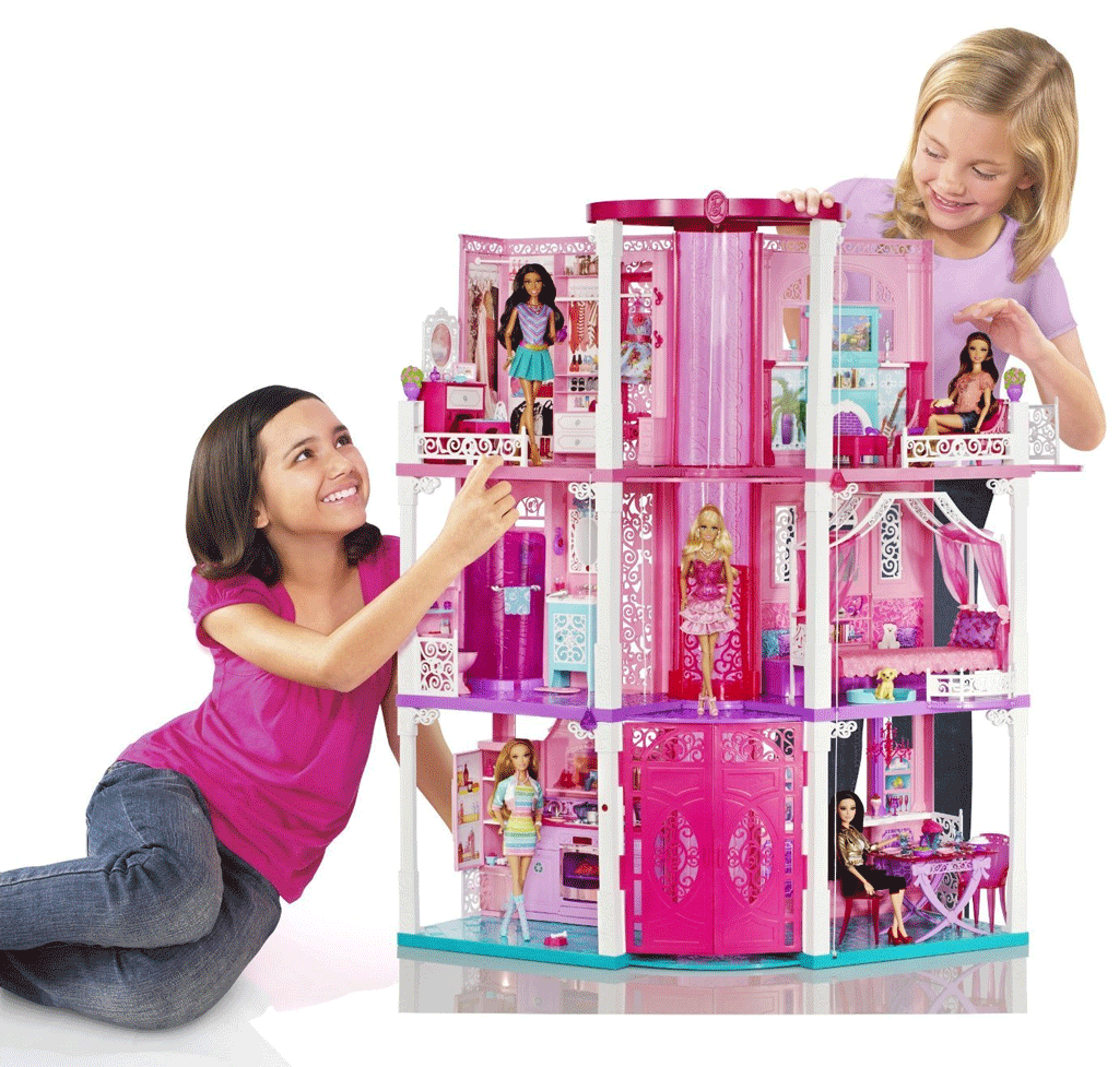 New Barbies Dream House Doll Mansion Toy Girl Play