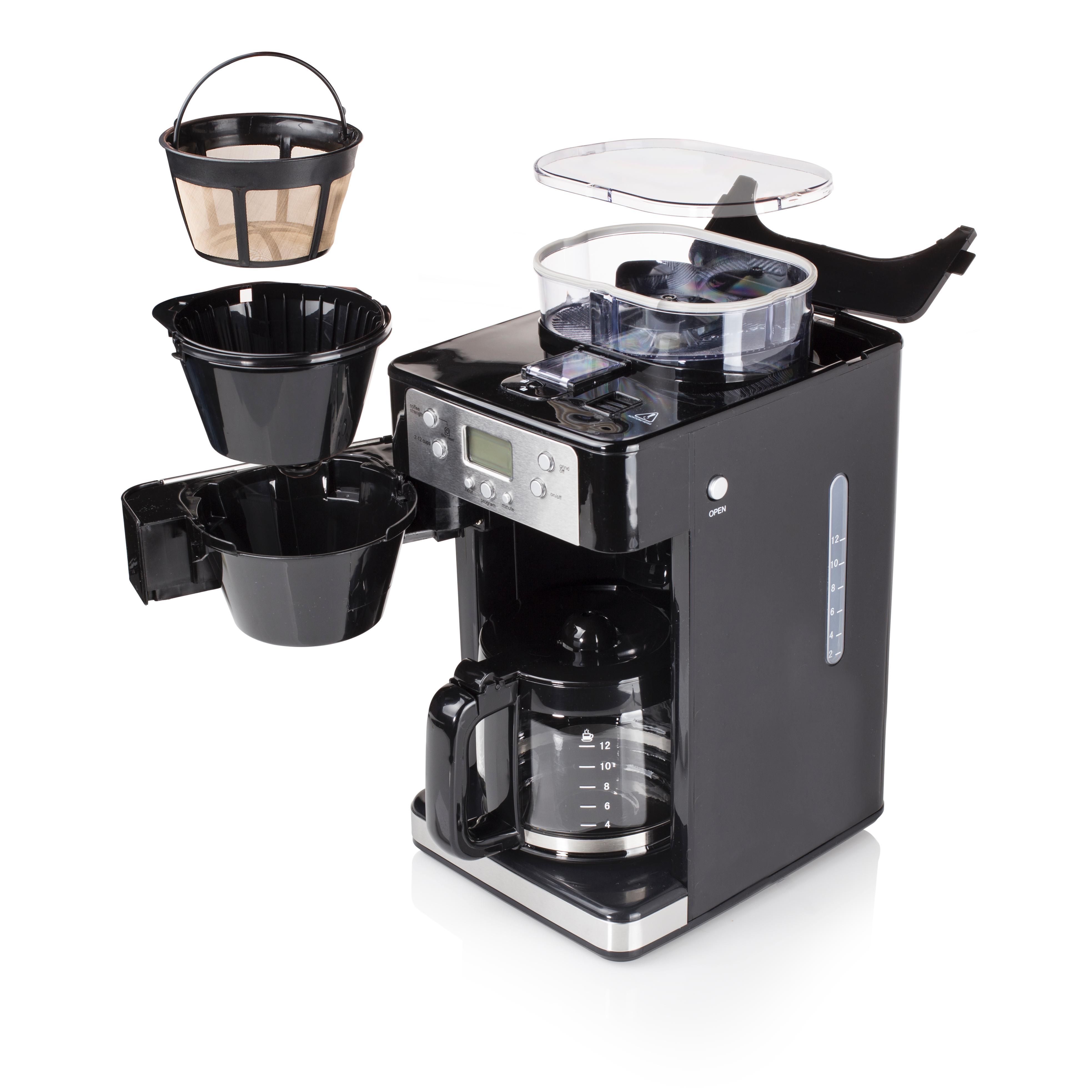 tristar kz 1228 kaffeemaschine mit integrierter kaffeem hle. Black Bedroom Furniture Sets. Home Design Ideas