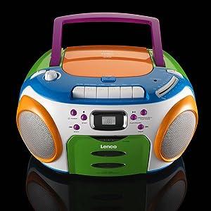 lenco scr 97 kids cd player mp3 lcd display fm radio mit kassettenplayer lenco. Black Bedroom Furniture Sets. Home Design Ideas