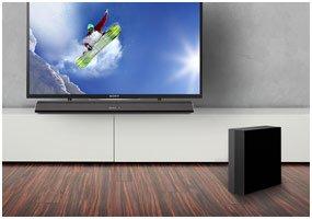 Sony Ht Ct370 2 1 Channel 300w Soundbar Black Amazon Co