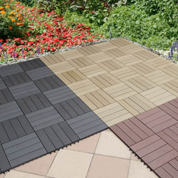gartenfreude everfloor wpc holz kunststoff gemisch terrassenfliesen massivprofil braun 10. Black Bedroom Furniture Sets. Home Design Ideas