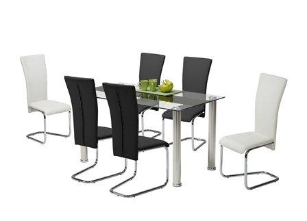 presto mobilia 10456 esstisch glastisch tisch cracky 140x80x75 cm glas k che haushalt. Black Bedroom Furniture Sets. Home Design Ideas