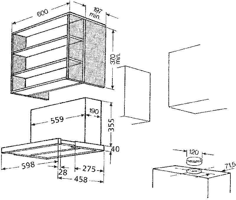 bauknecht dnhv 5460 sg mod dunstabzugshaube 60 cm 460 m3 h abluft silbergrau. Black Bedroom Furniture Sets. Home Design Ideas
