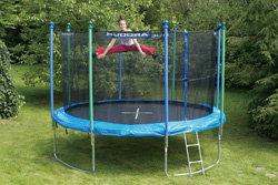 hudora trampolin mit sicherheitsnetz 366 cm 3 kartons art 65560. Black Bedroom Furniture Sets. Home Design Ideas