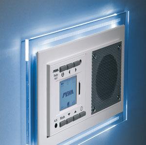 peha mp3 unterputz radio audiopoint im nova design mit funksender rahmen reinwei. Black Bedroom Furniture Sets. Home Design Ideas