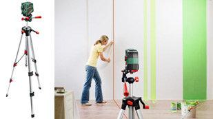 bosch 0603008201 kreuzlinienlaser pcl 20 set mit stativ messtechnik. Black Bedroom Furniture Sets. Home Design Ideas