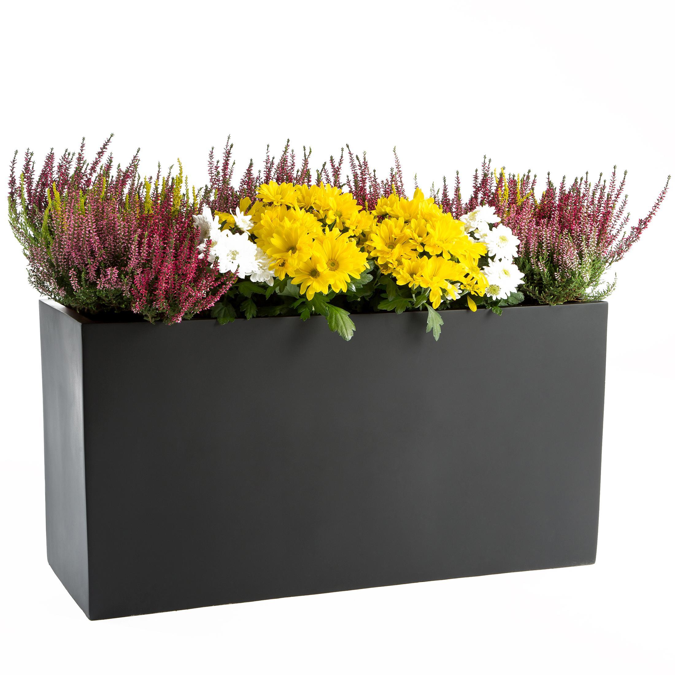 ultranatura cache pot bac fleurs en fibre de verre jardin
