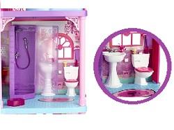 barbie x3551 poup e et mini poup e fabuleuse maison barbie. Black Bedroom Furniture Sets. Home Design Ideas