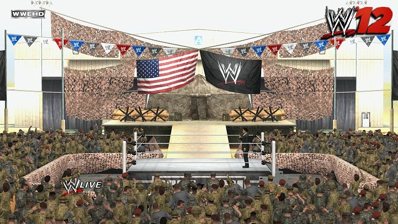 WWE '12: Tribute To The Troops Arena Pic [Amazon.fr Pre-Order Bonus]