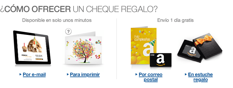 regalo cheque amazon