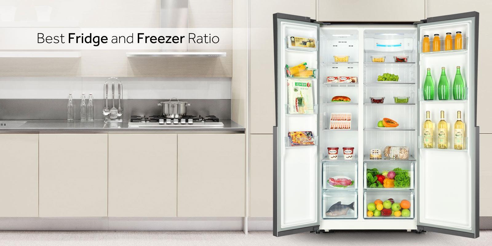 haier hrf 618 ss frost free side by side inverter. Black Bedroom Furniture Sets. Home Design Ideas