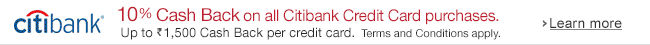 10% Cash Back on all Citibank Card purchases