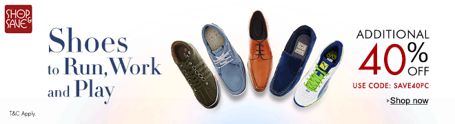 Addition 40% discount on Men shoes from Amazon. in, get Amazon India discount coupon code NOW!!!