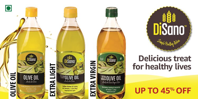 Up To 60% On Olive Oils, Edible Oils, Ghee & More + Cashback