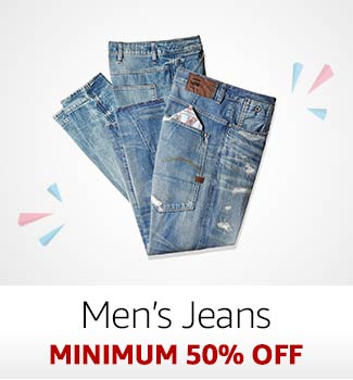 Men's Jeans: Minimum 50% off