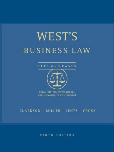 West's Business Law with Online Research Guide, 9th Edition