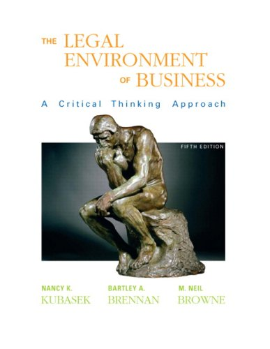 Legal Environment of Business (5th Edition)