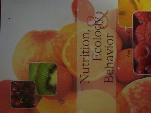 Nutrition, Ecology & Behavior