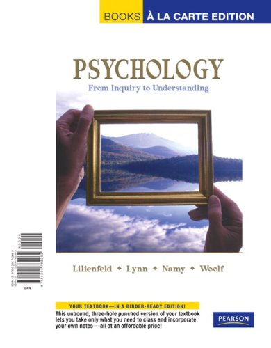 Psychology: From Inquiry to Understanding, Books a la Carte Edition