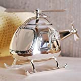 Christening Gifts. Boys Silver Helicopter Money Box