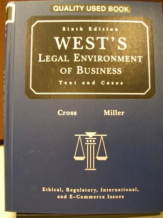 West's Legal Environment of Business (Texts and Cases, 6th)