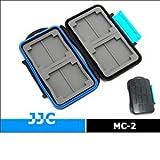 JJC MC-2 - Funda resistente al agua para tarjetas de memoria, azul