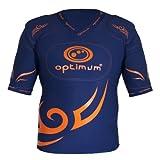 Optimum Men's Five Pad Classic Tribal Protective Shoulder Pad - Navy/Orange, XX-Large