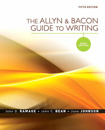 Allyn And Bacon Guide To Writing 7th Edition Pdf