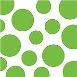 Creative Converting Celebrations 16 Count Chevron and Polka Dots Beverage Napkins, Fresh Lime