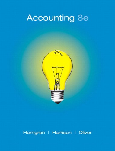 Accounting, Chapters 1-14, 8th Edition (Chapters 1-13)