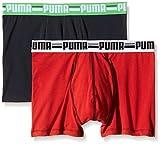 Puma Men's Twin Pack Brand Boxer - Ribbon Red, Medium