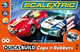 Scalextric 1:32 Scale Quick Build Cops & Robbers Race Set