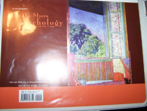 Instructors's Resources To Accompany David G. Myers Psychology Eighth Edition