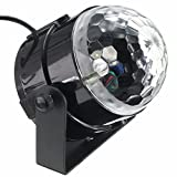 KINGSO Mini Disco DJ Stage Lights 5W LED RGB Sound Actived Crystal Magic Rotating Ball Lights Effect For KTV Xmas Party Wedding Show Club Pub Color Changing Lighting
