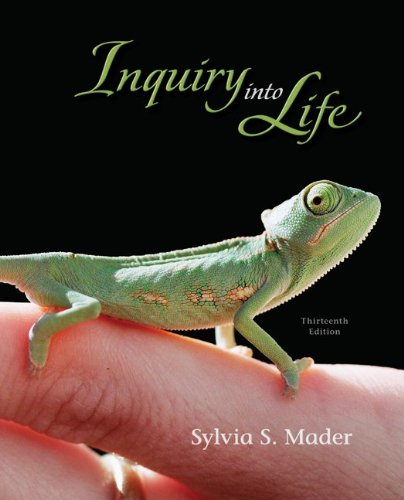 Inquiry Into Life Author Sylvia Mader StudyBlue