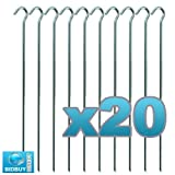"20 TENT PEGS ""HEAVY DUTY"" GALVANISED AWNING GARDEN POND NETTING CAMPING 9"""
