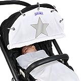 Dooky Winter - Parasol para carrito de bebé con diseño de estrella fosforescente, color crudo